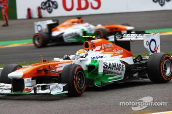 Adrian Sutil, Sahara Force India and Paul di Resta, Sahara Force India