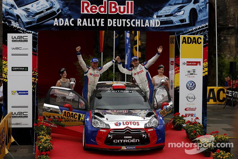 Winner WRC2, Robert Kubica, Maciek Baran, Citroen DS3 RRC #74