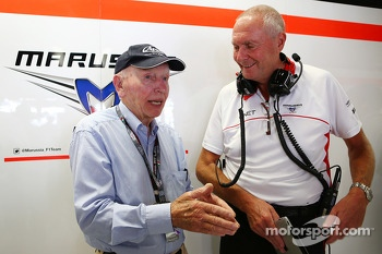 John Surtees, with John Booth, Marussia F1 Team Team Principal