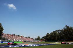 Daniel Ricciardo, Scuderia Toro Rosso STR8 leads team mate Jean-Eric Vergne, Scuderia Toro Rosso STR8