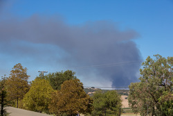 Smoke from fire in nearby Napa California