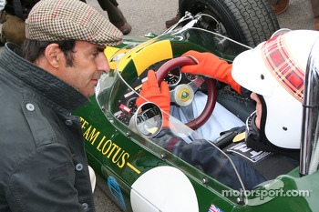 Jim Clark tribute, Jackie Stewart and Emmanuele Pirro