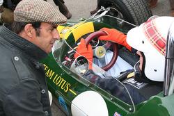 Jim Clark tribute, Jackie Stewart and Emmanuele Pirro