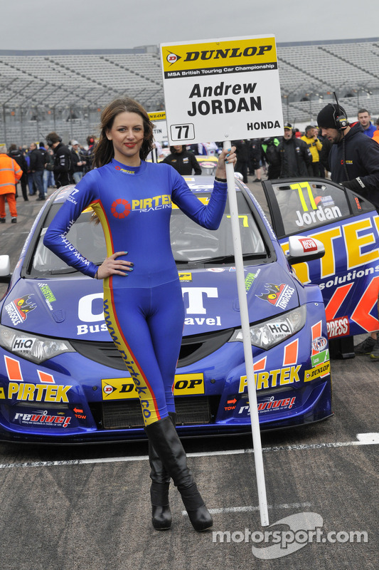 Pirtek Racing Grid Girl at Rockingham