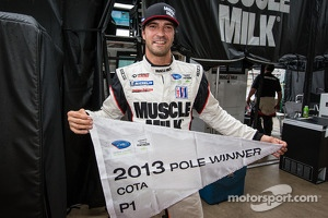 P1 pole winner Lucas Luhr celebrates