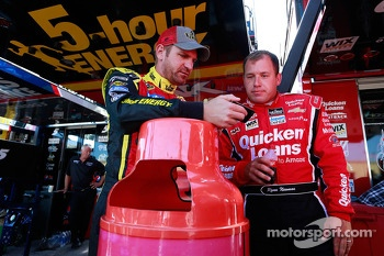 Clint Bowyer and Ryan Newman