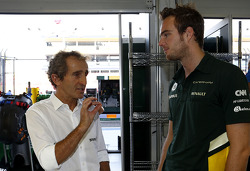 Alain Prost, and Giedo van der Garde, Caterham F1 Team