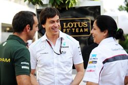 Cyril Abiteboul, Caterham F1 Team Principal with Toto Wolff, Mercedes AMG F1 Shareholder and Executive Director and Monisha Kaltenborn, Sauber Team Principal