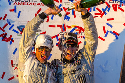 GTC podium: champagne for Patrick Dempsey and Andy Lally