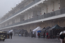 Heavy rain on the paddock