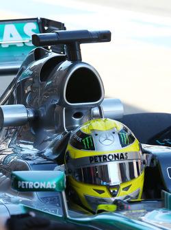 Nico Rosberg, Mercedes AMG F1 W04 engine cover detail