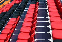 Empty seats in the granstand