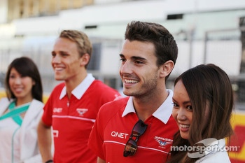 (L to R): Max Chilton, Marussia F1 Team with team mate Jules Bianchi, Marussia F1 Team