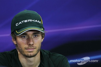 Charles Pic, Caterham in the FIA Press Conference