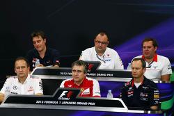 James Key, Scuderia Toro Rosso Technical Director; Tom McCullough, Sauber F1 Team Head of Track Engineering; Dave Greenwood, Marussia F1 Team Race Engineer; Jonathan Neale, McLaren Managing Director; Pat Fry, Ferrari Deputy Technical Director and Head of