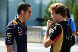 (L to R): Sebastien Buemi, Red Bull Racing and Scuderia Toro Rosso Reserve Driver with Davide Valsecchi, Lotus F1 Third Driver