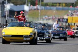 Drivers parade, Felipe Massa, Scuderia Ferrari