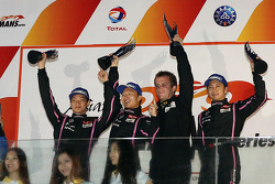 LM P2 Podium: winners Ho-Pin Tung, David Cheng, Shaun Thong, second place James Winslow, Gary Thompson, Jordan Oon