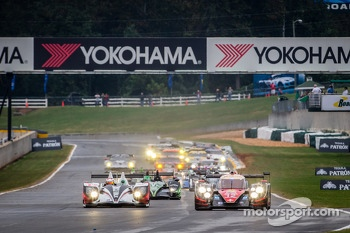 Start: #12 Rebellion Racing Lola B12/60 Toyota: Nick Heidfeld, Neel Jani, Nicolas Prost leads the field