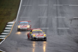 #45 Flying Lizard Motorsports Porsche 911 GT3 Cup: Nelson Canache, Spencer Pumpelly, Madison Snow, #44 Flying Lizard Motorsports Porsche 911 GT3 Cup: Seth Neiman, Dion von Moltke, Brett Sandberg