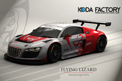 Rendering of the Flying Lizard Audi R8 LMS