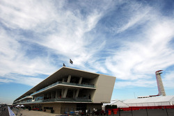 The pits and paddock building