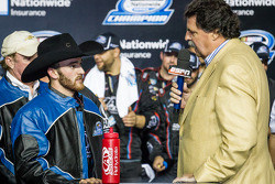 Championship victory lane: NASCAR Nationwide Series 2013 champion Austin Dillon with Mike Helton