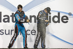 Championship victory lane: NASCAR Nationwide Series 2013 champion Austin Dillon celebrates with brother Ty Dillon