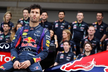Mark Webber, Red Bull Racing at a team photograph