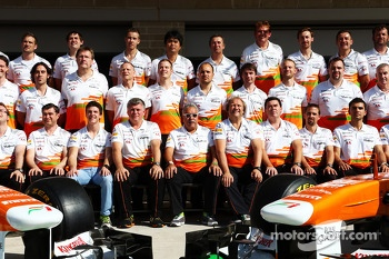 Sahara Force India F1 Team at a team photograph