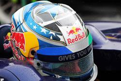 The helmet of Jean-Eric Vergne, Scuderia Toro Rosso STR8
