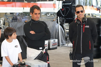 Juan Pablo Montoya and Helio Castroneves