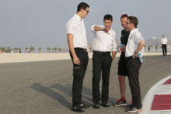 Loic Duval, Tom Kristensen and Allan McNish