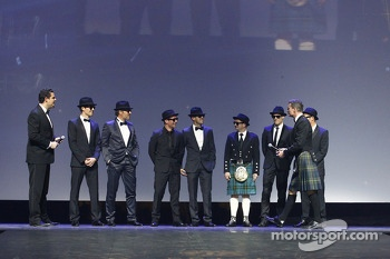 2013 FIA drivers champions arrive in Blues Brothers style