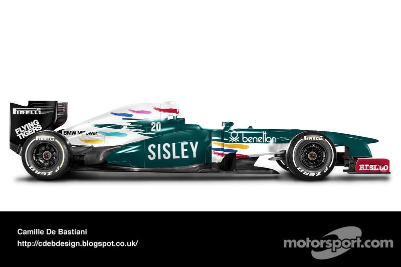 Formel-1-Auto im Retrodesign: Benetton 1986