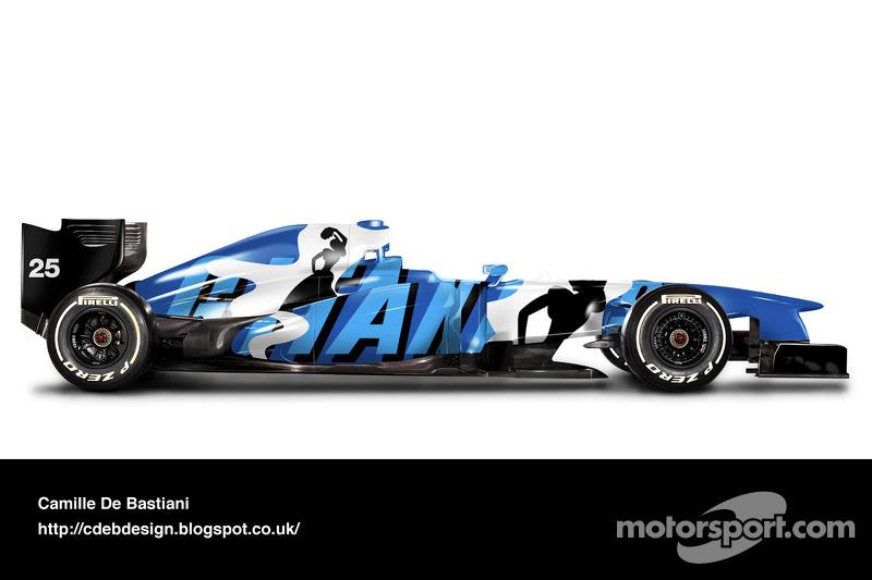 Formel-1-Auto im Retrodesign: Ligier 1993