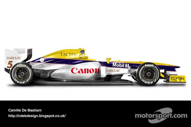 Formel-1-Auto im Retrodesign: Williams 1988