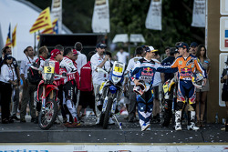Cyril Despres, Marc Coma and Joan Barreda