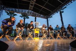 Drivers forum: Dale Earnhardt Jr., Hendrick Motorsports Chevrolet, Matt Kenseth, Joe Gibbs Racing Toyota, Ricky Stenhouse Jr., Roush Fenway Racing Ford, Aric Almirola, Richard Petty Motorsports Ford, Jamie McMurray, Earnhardt Ganassi Racing