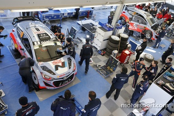 Hyundai Motorsport team area