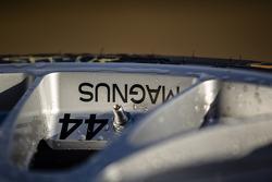 Magnus Racing Porsche 911 GT America Porsche wheel detail