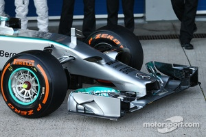 The nose of the Mercedes AMG F1 W05