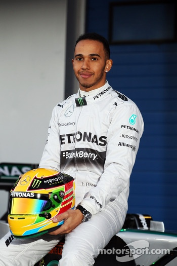 Lewis Hamilton, Mercedes AMG F1 at the unveiling of the new Mercedes AMG F1 W05