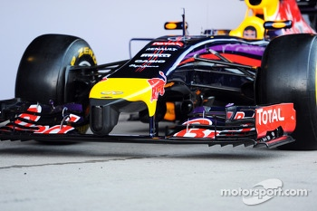The new Red Bull Racing RB10 is unveiled - front wing and nosecone