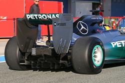 Lewis Hamilton, Mercedes AMG F1 W05 rear diffuser detail
