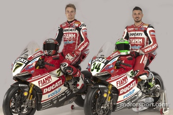 Chaz Davies and Davide Giugliano