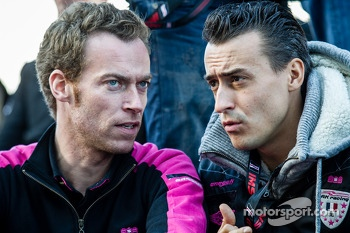 OKA Racing team manager Philippe Dumas and Roman Rusinov