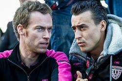 OKA Racing team manager Philippe Dumas and Roman Rusinov