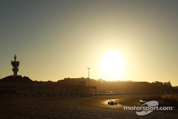 Action as the sun rises over the circuit