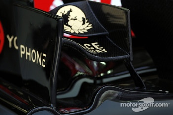 Lotus F1 E22 front wing detail